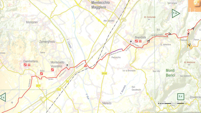 Bike Touring Route Verona to Vicenza