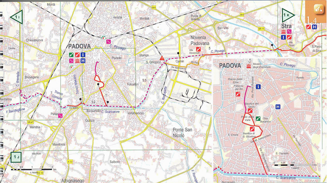Bike Route Padova to Venice