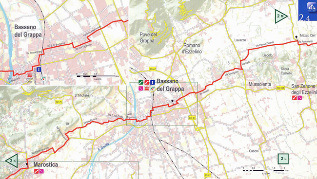 Bike Route Vicenza to Bassano