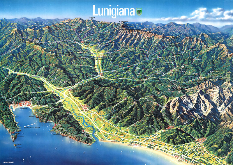 lunigiana region map tuscany