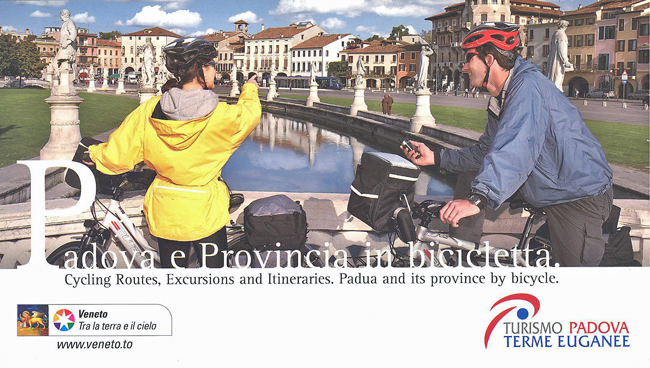 bike tour padova booklet