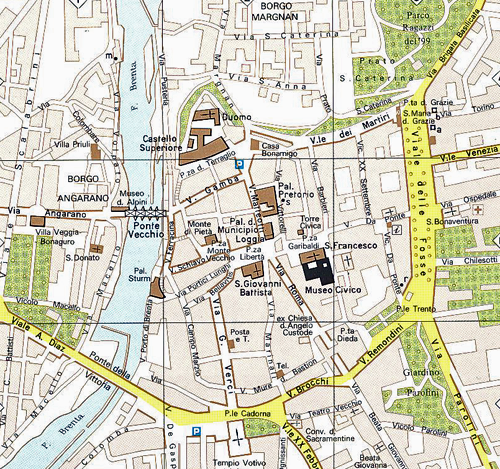 Bassano del Grappa City map