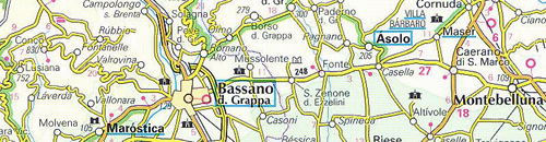 Bassano del Grappa Italy, map