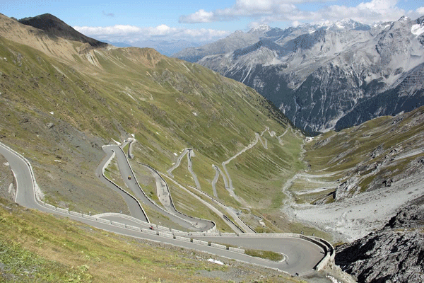 Photo of Passo Stelvio in the Italian Alps