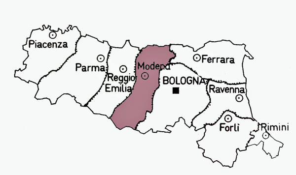 Map of Modena Province