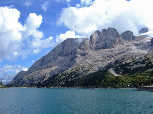 Photo of Marmolada Mountains in the Dolomites of Italy