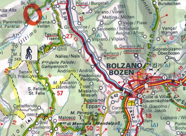 Passo Palade Bike Tour Map