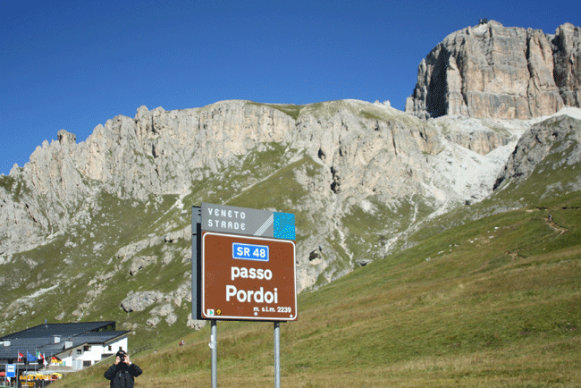 Photo of Passo Pordoi in the Italian Dolomites