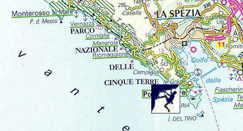 Rock Climb Italy, Muzzarone Climb Map