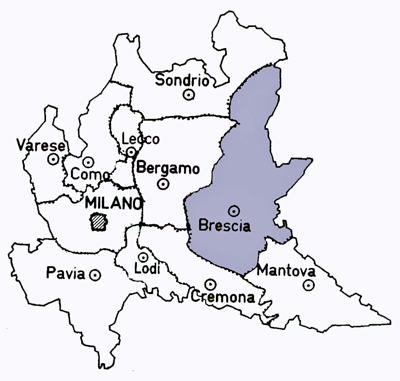 Map of the Brescia Province of Italy