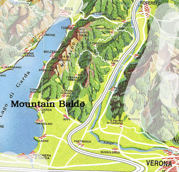 Map Of Monte Boldo in Italy