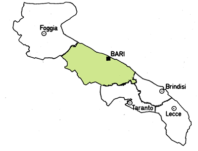 Map of the Bari Province