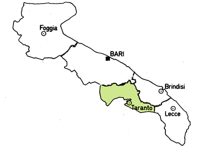 Map of the Tartanto Province