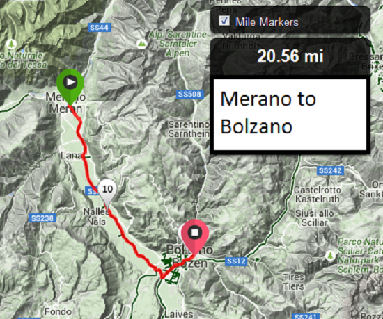 Bike Touring Adige Valley, Merano to Bolzano