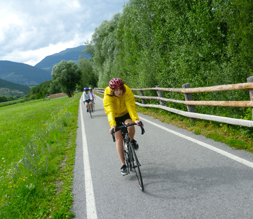 val venosta bike path italy