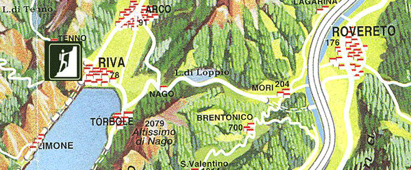 Hiking Italy, Italia Dolomite's via-dell-amicizia-map