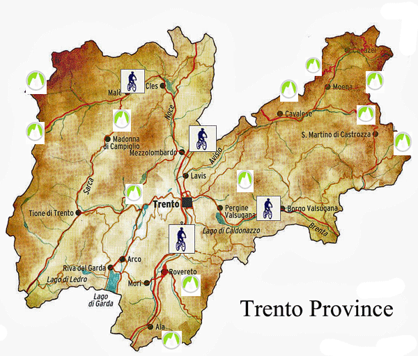 Bike Tour Trento Province, Map