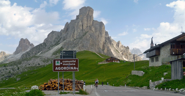 Bike Touring Italy's Dolomite's, Passo Giau from Selva