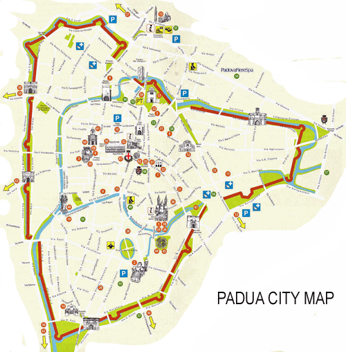 Bike Touring Padova, Padova City Map Italiaoutdoors