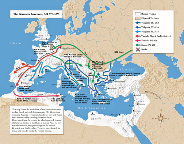 barbarian invasions map ita