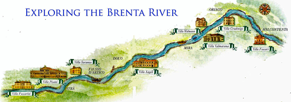 Brenta Canal Bike Tour Route 1 Map