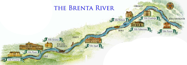Brenta Canal Map of the Villas