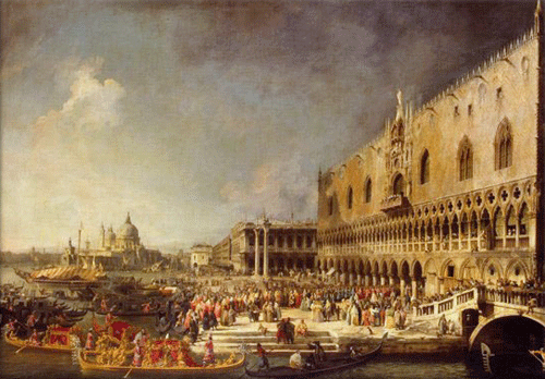 Venice Italy, Canaletto Painting