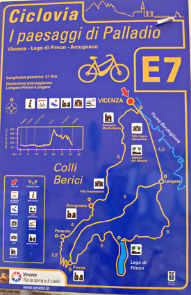 Bike Tour Italy's Vicenza E7 bike route